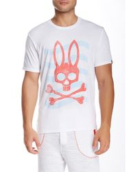 Psycho Bunny - White Lounge Logo Tee for Men - Lyst