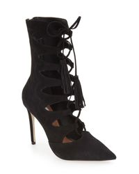 Steve Madden | Black 'piper' Lace-up Bootie (women) | Lyst