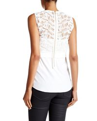 Veronica Beard | White Playa Mixed Media Tank | Lyst