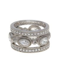 Freida Rothman - Metallic Marquise Cz 3-piece Stackable Ring Set - Size 9 - Lyst