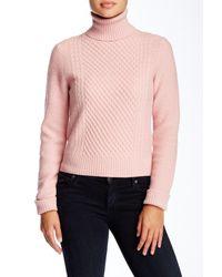 Equipment - Pink Atticus Turtleneck Wool Blend Sweater - Lyst
