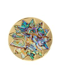 House of Harlow 1960 | Metallic Starburst Abalone Cocktail Ring - Size 7 | Lyst