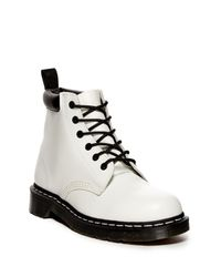 Dr. Martens White 939 Smooth Combat Boot (unisex)