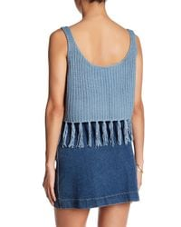 Raga - Blue Mary Jane Cropped Sweater Tank - Lyst