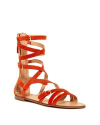 Joe's Jeans | Orange Teddy Gladiator Sandal | Lyst