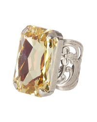 Sorrelli - Metallic Bring On The Glamour Crystal Cocktail Ring - Lyst
