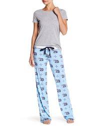 Pj Salvage Blue Elephant Pajama Pant