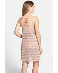 Reef Pink Summer Breeze Strappy Crochet Cover-up