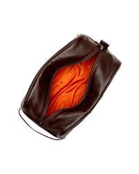 Robert Graham Brown Palamar Leather Travel Kit