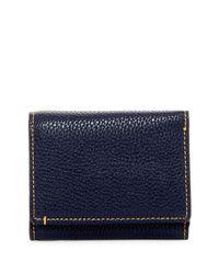 Robert Graham Blue Capria Leather Trim Tri-fold Wallet