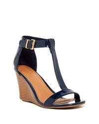 Kenneth Cole Reaction Blue Ava Crave T-strap Wedge Sandal