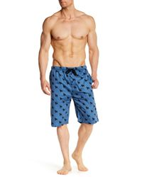 Pj Salvage - Blue Animals Silhouette Pajama Short for Men - Lyst