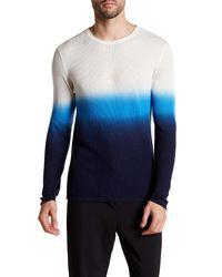 Parke & Ronen | Blue Dip-dye Long Sleeve Thermal Shirt for Men | Lyst