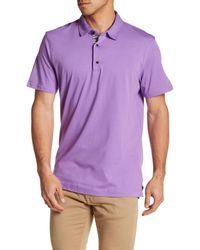 Robert Graham | Purple Short Sleeve Polo for Men | Lyst