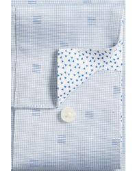 Ted Baker | Blue Crane Slim Fit Geometric Dress Shirt for Men | Lyst