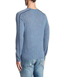 Autumn Cashmere - Blue Sporty Crew Neck Cashmere Shirt for Men - Lyst