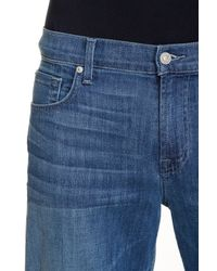 7 For All Mankind - Blue Austyn Relaxed Straight Leg Jean - Lyst