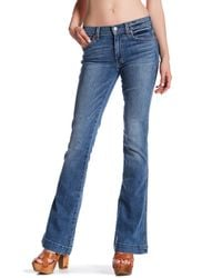 7 For All Mankind | Blue Flared Jean | Lyst
