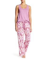 Pj Salvage | Pink Ikat Sleep Pant | Lyst