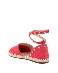 Schutz - Pink Studded Espadrille Flat - Lyst