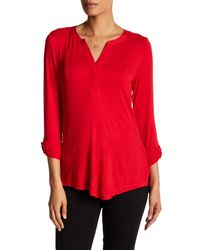 NYDJ | Red Pleated Back Blouse | Lyst