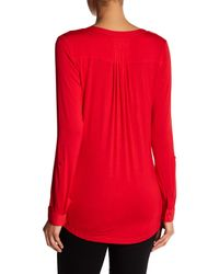 NYDJ - Red Pleated Back Blouse - Lyst