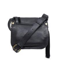 Sanctuary - Black Leather Studded Lux Bohemian Saddle Crossbody - Lyst