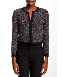 Diane von Furstenberg - Black Emery Boucle Tweed Jacket - Lyst