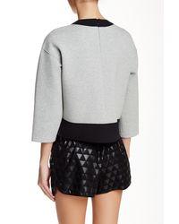 10 Crosby Derek Lam - Multicolor Silk Lined Asymmetrical Hem Sweatshirt - Lyst