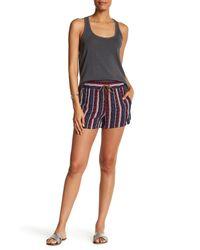 Splendid | Multicolor Beachcomber Stripe Woven Drawstring Short | Lyst