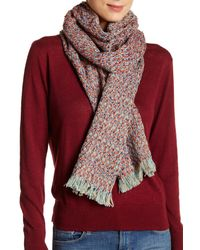 Rampage | Red Fringe Scarf | Lyst