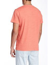 Joe's Jeans Pink Winslow Short Sleeve Henley for men