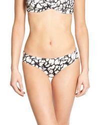 RVCA | Black 'shapeshifter' Print Bikini Bottoms | Lyst