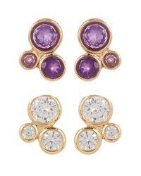 Melinda Maria   Multicolor Jasmine Cluster Stud Earrings Set   Lyst