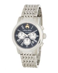 Brooks Brothers   Metallic Men's Chronograph Collection Analog Bracelet Watch for Men   Lyst