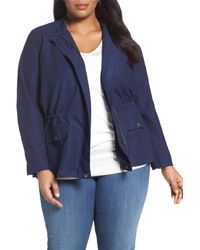 Sejour - Blue Relaxed Utility Jacket - Lyst