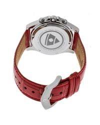 Swiss Legend - Red Women's Paradiso Diamond Embossed Leather Strap Watch - Lyst