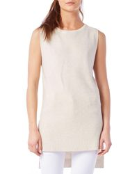 Michael Stars | Multicolor Sleeveless Side Slit Sweater Tank | Lyst