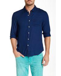 Joe's Jeans | Blue Single Pocket Slim Fit Shirt for Men | Lyst