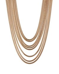 Steve Madden | Metallic Layered Snake Chain Necklace | Lyst