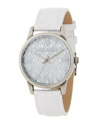 Steve Madden - Metallic Women's Perforated Leather Strap Watch - Lyst