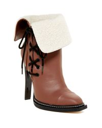 Gx By Gwen Stefani - Brown Tribe Cap Toe Faux Fur Cuff Bootie - Lyst
