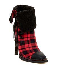 Gx By Gwen Stefani | Red Tribe Cap Toe Faux Fur Cuff Bootie | Lyst