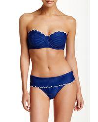 Jessica Simpson Blue Scalloped Underwire Bralette Top