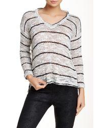 Splendid White Broome Stripe Sweater