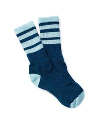 Smartwool | Blue Hike Stripe Wool Blend Socks | Lyst