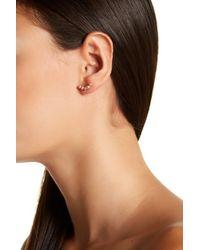 Splendid | 3mm Natural Pink Freshwater Pearl Climber Earrings | Lyst