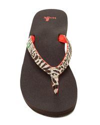 Sanuk | Brown Yoga Joy Exotic Flip Flop Sandal | Lyst