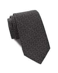 Ben Sherman | Black Silk Triangle Tie for Men | Lyst