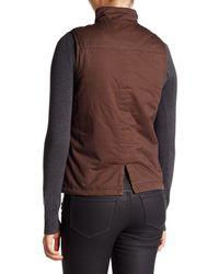 Jolt - Brown Faux Fur Lined Vest - Lyst